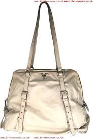 superior materials women handbag prada cervo zip closure large shoulder off white leather tote ajthrvwm