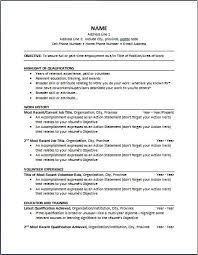 Chronological Order Resume Example Chronological Order Resume