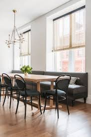 dining room banquette. Sophisticated Hanging Pendant Lighting And Stunning Rectanle Wood Table Amazing Black Dining Banquette Seating Room N