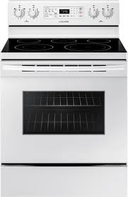 white electric range. Convection Freestanding Electric Range - White :