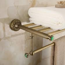 nickel hotel towel rack shelf free shipping wall mount europe style total brass bathroom towel rack