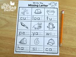 These kindergarten phonics worksheets are good for first graders, too, or any early learner who needs practice identifying rhyming words. Write The Ending Sounds Worksheets This Reading Mama