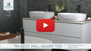 palazzo bathroom wall vanity large twin basin stone top 1500 fontaineind com au