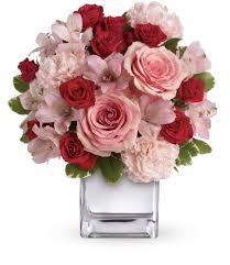 pink floral arrangements. Perfect Arrangements Teleflorau0027s Love That Pink Bouquet With Roses On Floral Arrangements