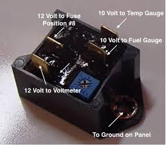 gauges, instruments and switches valve chatter Smiths Fuel Gauge Wiring Diagram voltage stabilizer wiring Fuel Gauge Problems