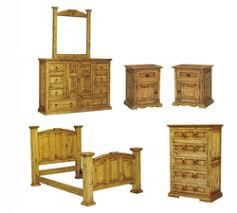 Beautiful San Carlos Rustic Pine Bedroom Set