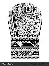 Maorský Styl Tetování Pro Oblast Ramen A Rukáv Biceps Stock Vektor