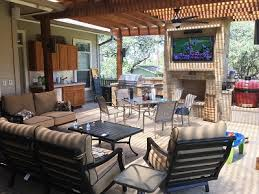 simple covered outdoor living spaces. Beautiful Outdoor And Northview Hills This Rugged Pergolacovered Patiooutdoor Kitchen  With Stone Fireplace Takes U201ccombination Outdoor Living Spaceu201d To A New Level Inside Simple Covered Outdoor Living Spaces N