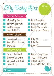 Editable Morning Routine Chart For Adults Www