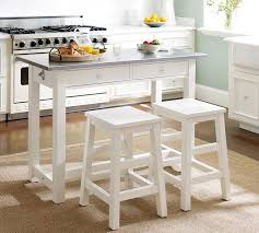 Balboa Counter-Height Table & Stool 3-Piece Dining Set, White | Pottery Barn