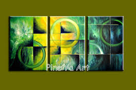 buy 3 piece canvas art handpainted decorative abstract modern green wall picture oil painting canvas for living room decoration in cheap price on m alibaba  on green wall art decor with buy 3 piece canvas art handpainted decorative abstract modern green