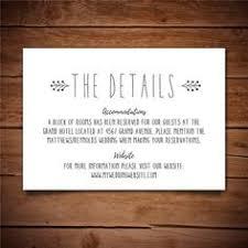 Wedding Enclosure Card Template Wedding Information Template Confetti Printable Information Card