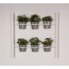 Kate and Laurel Groves Indoor Herb Garden Black Metal Hanging Wall Planter  - Free Shipping Today - Overstock.com - 20489673