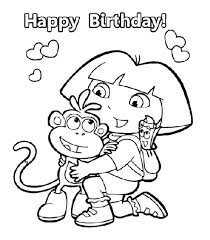 dora coloring page trend coloring page 4 for funky pages free ilration ways to use draw