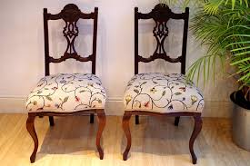 pair of antique edwardian upholstered chairs