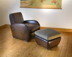 adorable club arm chair with leather armchair and footstool french club armchair styled from