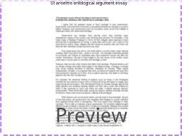 st anselms ontological argument essay homework service st anselms ontological argument essay summary of the ontological argument the ontological argument of st