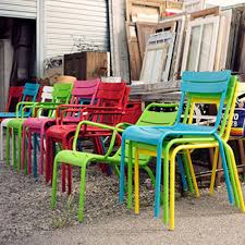 modern metal outdoor furniture. Modern, Colorful, Metal Outdoor Chairs And Tables From French Manufacturer, Fermob. Modern Furniture S