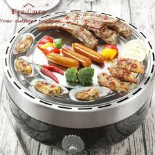 round restaurant indoor flame grill bbq korean table top charcoal fan smokeless charcoal camping portable bbq grill
