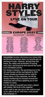 EUROPE TOUR-RESCHEDULED