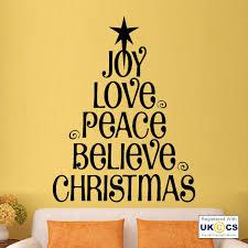 xmas joy love peace tree believe wall