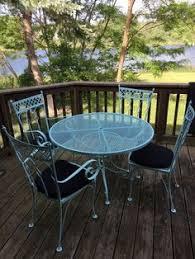 deck wrought iron table. Wrought Iron Table Deck