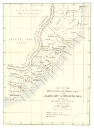 tracing dissent at the margins of empire ibraaz holden s map of the country where the kaffirs reside from algoa bay to delgado bay 1857