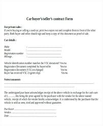 Car Sale Receipt Vehicle Agreement Beautiful Contract Sample 7 ...