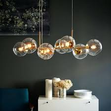 stylish lights for chandeliers staggered glass chandelier 8 light west elm bulbs edison bulb west elm