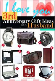 3rd year anniversary gift ideas wedding for husband 3 him