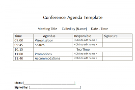 office agenda sample business conference agenda template office templates online