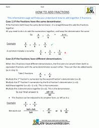 Worksheets By Math Crush Fractions Adding And Subtracting With ...