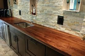 walnut j countertop ideas for light oak cabinets