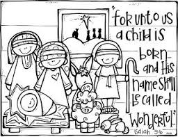 Melonheadz Freebies Christmas Nativity Coloring Page Christmas