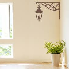 corner lamp wall decal