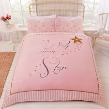 wish upon a star duvet cover set pink
