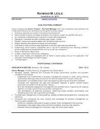 Senior Portfolio Manager Duties Portfolio Manager Associate Job
