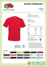 Fruit Of The Loom Lady Fit Size Chart Fruit Of The Loom Valueweight T Shirt Size Chart Rldm