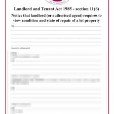 notice to tenant to make repairs templates routine inspection template grl landlord association