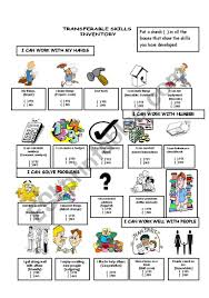 Transferable Skills Worksheet Transferable Skills Esl Worksheet By Jij3808