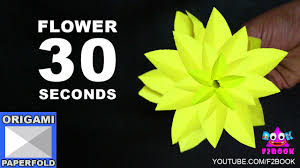 Paper Origami Flower Making F2book Easy Origami Flower Making 30 Seconds Instruction