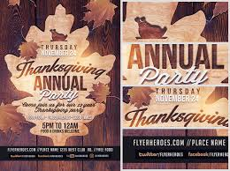 thanksgiving party flyer wooden thanksgiving annual party flyer template flyerheroes
