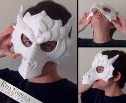 Blank Eye Masks To Decorate Dragon Mask Blank Fantasy Half Masque Dragon Masquerade 60