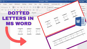 Draw or delete a line or connector. How To Make Tracing Letters In Microsoft Word Dotted Letters In Ms Word Youtube