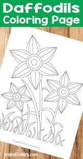 Daffodils Coloring Page For Kids Free