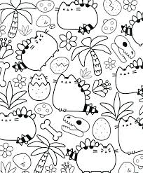 Coloring Pages Beach Fresh Pusheen My Beach Essentials Coloring