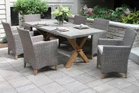 tna2222 driftwood grey wicker teak dining chair with sunbrella cushion 2pk shown