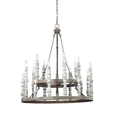 eclectic lighting. Distressed Eclectic Candlestick Chandelier - 2 Tier White Lighting
