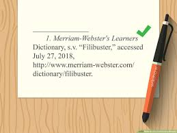 3 Ways To Cite A Dictionary Website Wikihow