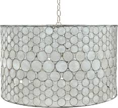 oly studio serena drum chandelier in antiqued silver silver